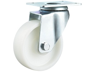 Medium Duty White PP Caster Swivel Top Plate